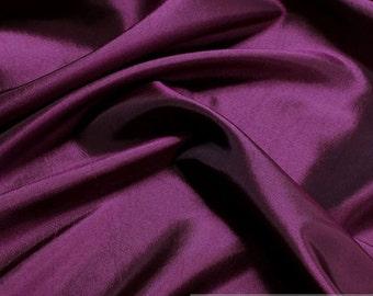 Fabric polyester taffeta purple lining brilliant