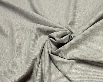 Fabric cotton cashmere denim light grey very soft
