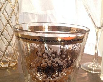 Utd Glass Ice Bucket Mid Century Barware