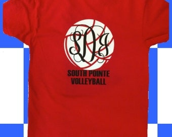 Custom Monogrammed Volleyball Tshirt ~ Any Sport, Any Color!