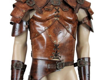Hard leather ARMOUR for man warrior, in 6 colors