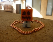 Minecraft mini-figure necklace, snow golem