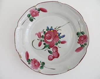 French vintage, floral plates