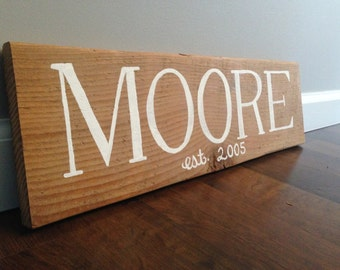 Hand Painted, Customized, Family Name, Wood Sign