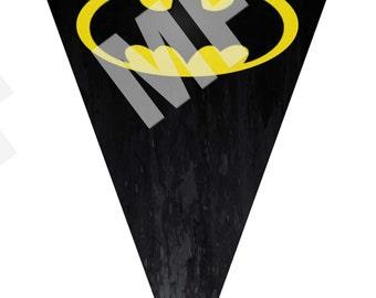 Batman Birthday Printable Pennants