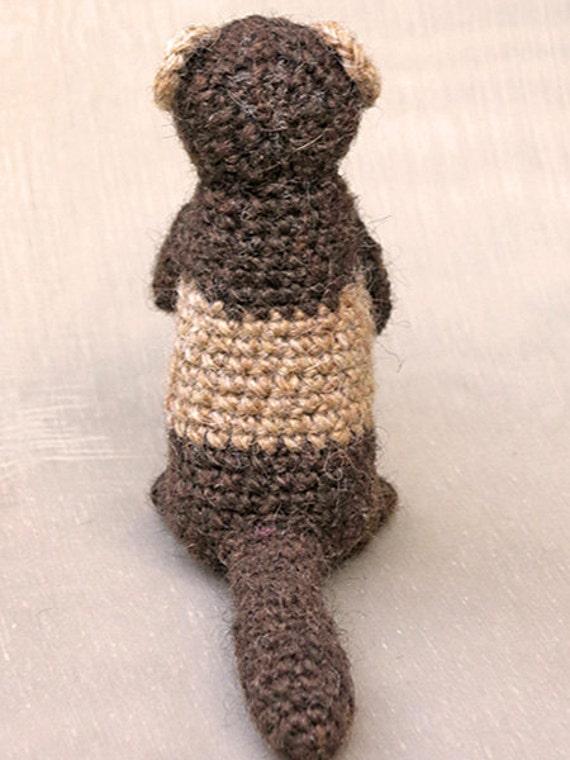 Crochet amigurumi ferret polecat pattern from SonsPopkes ...