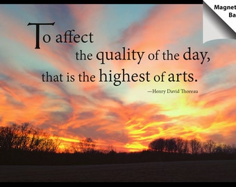 Magnet: Sunset, Inspirational quote, To affect the quality of the day
