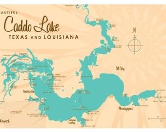 Caddo Lake, TX & LA Map Print