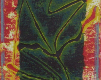 Window abstract collograph print