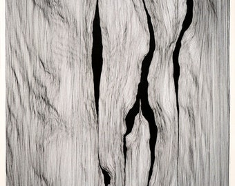 large black and white, minimal, abstract drawing
