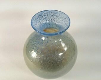 Vintage Swedish Ekenas Glasburk signed collectible John-Orwar Lake  vase