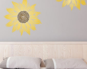 LARGE SUNFLOWER  All over Wallpaper Stencil / Reusable Stencil / DIY / Home Decor / Interiors / Feature Wall / Wallpaper alternative