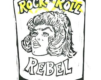 popular items for rock n roll rebel on etsy. Black Bedroom Furniture Sets. Home Design Ideas