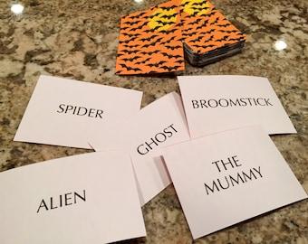Halloween Card Game - Who am I?