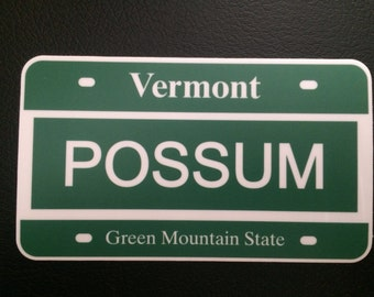 Possum Vermont License Phish Sticker 2014 - His End Was the ROAD