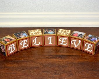 Personalized Christmas Blocks