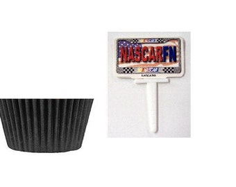 Nascar Picks with Black Baking Cups