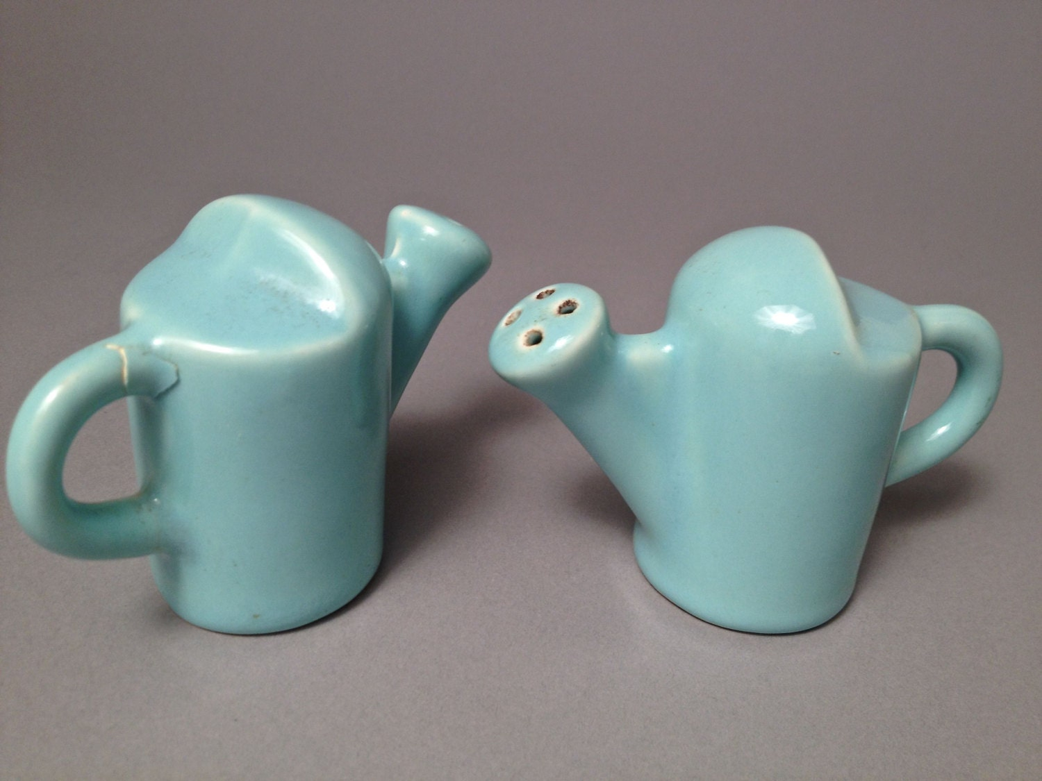 Art Deco Ceramic Salt And Pepper Shaker Set Unique Set One