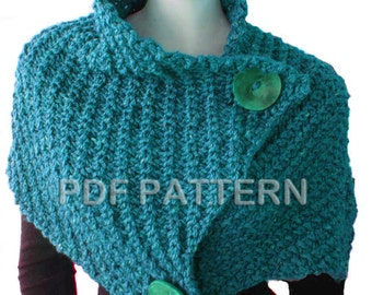 PDF KNITTING PATTERN - Giant Retro Cowl