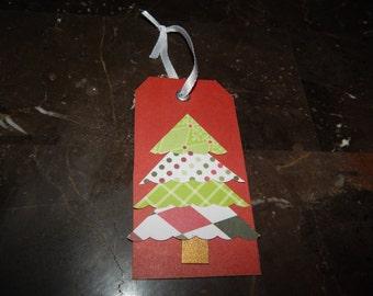 Rustic Christmas Gift Tags - Merry Christmas Gift Tags - Christmas Tree Tags - Unique Christmas Gift Tags - Set of 6