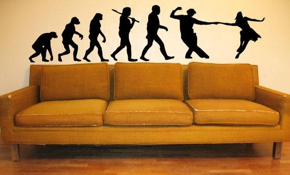 Salsa Wall Decal Slide Glide Stomp Dance Evolution Swing Shuffling Ballroom Lindy hop Boogie-woogie Wall Art Wall Decals Wall Stickers tr159