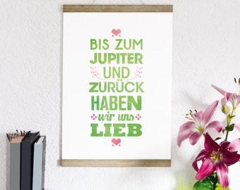 To Jupiter and back us we love - print form type