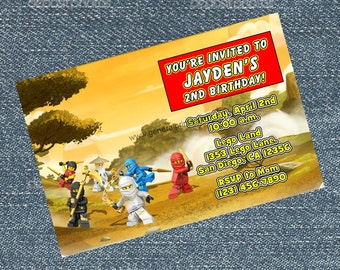 Ninjago Invitations - Ninja Birthday party