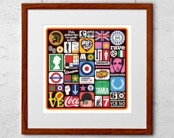 Mod Art Print: This is The Modern World
