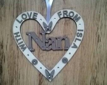 Personalised family member heart