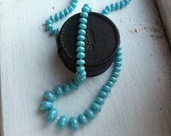 Beautiful plastic beads necklace antique vintage retro jewellery early plastic 50s