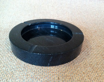 Heavy black marble ash tray