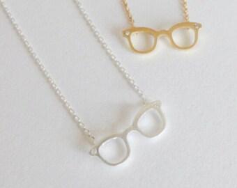 SALE Little Retro Specs, glasses necklace, retro glasses necklace, quirky necklace