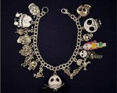 Disney Inspired Nightmare Before Christmas Themed Charm Bracelet