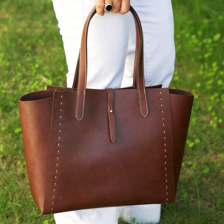 d scount leather tote bag brown leather handbag. Black Bedroom Furniture Sets. Home Design Ideas