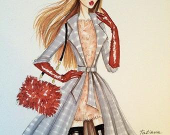 ORIGINAL Fashion Illustration -ANNA