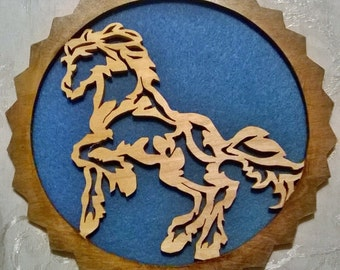 Scroll Saw Horse wall decoration