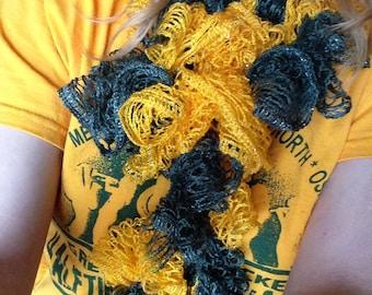 Packer Crocheted Ruffle Scarf