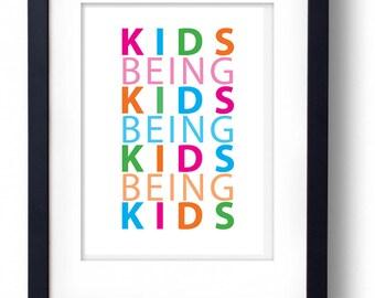 Kids Being Kids Digital Print