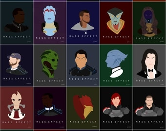 Mass Effect Squadmate Posters