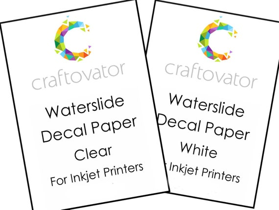 inkjet clear waterslide decal paper instructions
