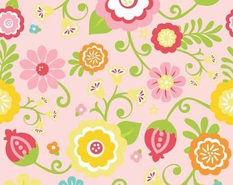 SALE - Simply Sweet Main Pink Floral - Riley Blake Designs - 25cm