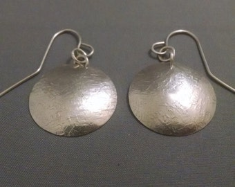 Sterling Silver Textured Earrings