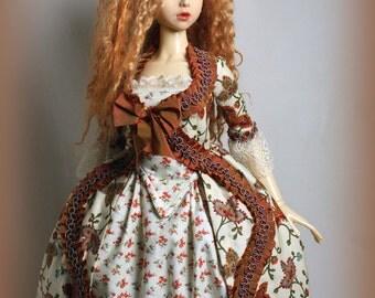 Les Fleurs d' l Automne~ OOAK gown for Elfdoll/SD13 Bjd dolls