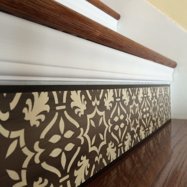 stair riser alternative to vinyl decals stair decals and