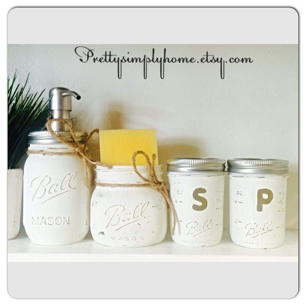 Mason jar kitchen set farmhouse decor rustic kitchen set for Mason jar kitchen ideas