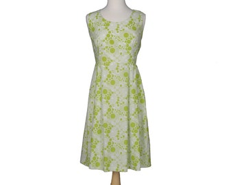 Juliee Dress - Circles and Dots in Lime Dress Size 8