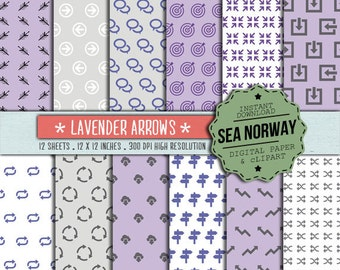Digital paper, ARROWS ICONS patterns, instant downlad, scrapbookng , 300 DPI 12 x 12 inch / 164
