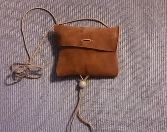 Suede Neck Pouch