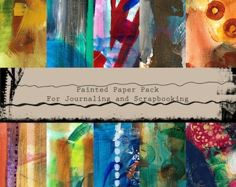 Painted papers for scrapbooking or journaling to download and print or use digitally.
