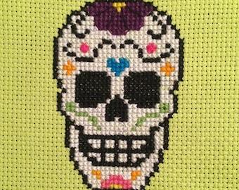 Cross Stitch Sugar Skull